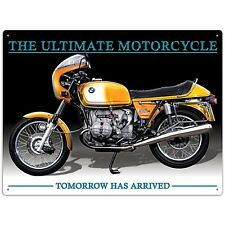"Insegna Metallo BMW R90S Motocicletta ""Tomorrow Has Arrived"" (rh)"