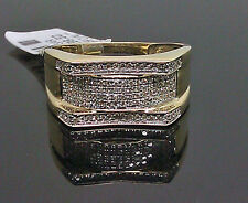 10K Men's Yellow Gold Uniquely Designed Ring With 0.34CTW Diamond