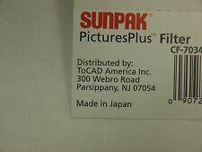GENUINE ORIGINAL TOCAD SUNPAK 52mm OPTICAL GLASS UV ULTRA VIOLET SCREW in FILTER