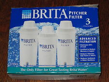 Lot of 3 Genuine Brita Replacement Pitcher Filters - NEW