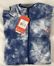 The North Face MEN'S Chicago Wind Lemoges Blue Cirrus Print Jacket Size Large