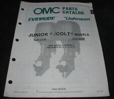 Parts Catalog Evinrude Johnson Junior Colt Models EJR-CCM JCO-CCM ET Katalog!