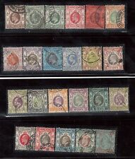 Hong Kong #86 - #108 VF Used Rare Set Of 23