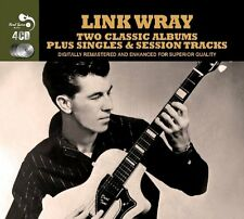 Link Wray TWO CLASSIC ALBUMS +SINGLES & SESSION SONGS Great Guitar Hits NEW 4 CD