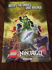"SDCC 2012 LEGO NINJAGO MASTER OF SPINJITZU PROMO POSTER 26.75""x19"" EXCLUSIVE HTF"