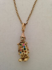 "20"" 9ct Yellow Gold Necklace with Clown Pendant"
