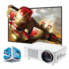 4000 Lumens Mini LED 3D Home Theater Business Projector 1280x800 1080p VGA USB