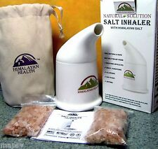 Himalayan Salt Inhaler & 2 refills & Bag Asthma COPD Allergies Sinusitis Snoring