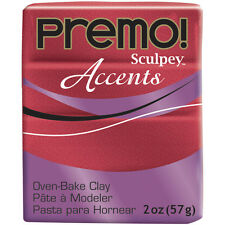 """""""Premo Sculpey Accents Polymer Clay 2oz-Red Glitter, Set Of 5"""""""