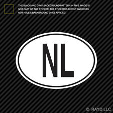 NL Netherlands Country Code Oval Sticker Decal Self Adhesive Dutch euro