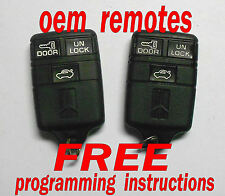 MATCHED PAIR OEM 1991-1996 OLDSMOBILE KEYLESS REMOTE ENTRY FOBS REMOTES ABO0104T