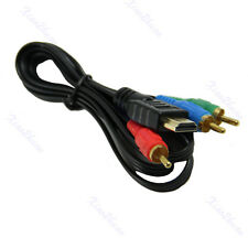 1M 3FT HDMI To 3 RCA Adapter Cable Gold Plated For HDTV DVD New