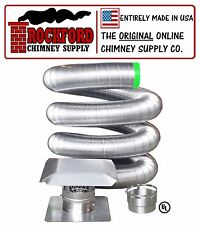 6 in. x 20 ft. Flexible Chimney Liner Insert Kit .006 316 Stainless Steel
