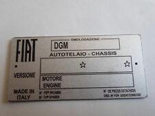 Typenschild Schild Fiat 850 131 132 130 128 124 126 500 oldtimer Blankoschild