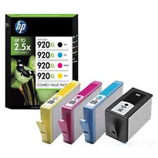 4 Genuine HP 920XL BK C M Y NO BOX Sealed Sleeve Inkjet Cartridges 920XL