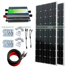 300W Complete Kit: 2x 160W Mono PV Solar Panel for 24V RV Boat Solar System
