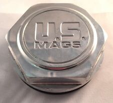 US Mags Custom Wheel Center Cap Hex Polished Aluminum Pop-In