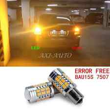 2 X 1156PY BAU15S 7507 CANBUS 36 5730SMD Amber Yellow Turn Signal LED Light Bulb