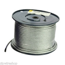 50m of GALVANISED 8mm ZIP WIRE ROPE / CABLE - 7x19 STRAND - ZIP LINE