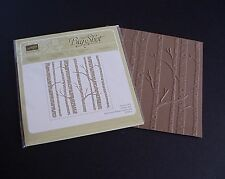 NEW Stampin' Up! Woodland Textured Impressions Embossing Folder