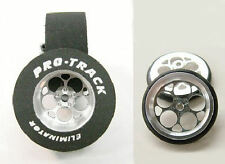 """Pro Track """"Magnum"""" 1/8"""" x 1 1/16"""" x .500 wd Matching Ft & Re Drag 1/24 Slot Car"""