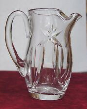 "WATERFORD CRYSTAL 7 1/4"" BEVERAGE JUG ICE LIP PITCHER IRELAND RARE PATTERN NICE"