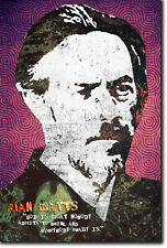 ALAN WATTS POSTER - UNIQUE ART PRINT 7 - ZEN MEDITATION