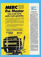 QUATTROR982-PUBBLICITA'/ADVERTISING-1982- MERCURY - MERC 20 (versione A)