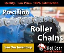 #160 ROLLER CHAIN 10FT NEW FROM FACTORY RIVETED  #160-1R