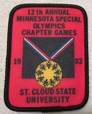 Vintage Special Olympics Patch 1982 St Cloud State University Minnesota 12th Ann