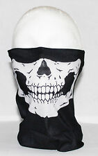 Multi use Biker Skull Cycling Neck Tube Scarf Snood Face Mask Warmer Bandana