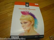 New ! Adult Wig Colorful Mohawk one size fits Most indoor use only