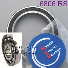 6806 2RS Si3N4 Ceramic Ball Bearing Rubber Sealed 61806 for BB30 30 x 42 x 7 mm