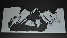 SANCTUARIES EDGE 25cm MOUNTAIN SPORTS BIKE ROCK CLIMBING STICKER DECAL CLIMB