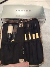 BNIB BOBBI BROWN COPPER DIAMOND DELUXE 6 MINI MAKE UP BRUSH SET, GOLD POUCH,RARE