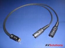 'Y' Adaptor/Splitter for Bang & Olufsen B&O BeoLab PowerLink Mk3 (0.5 Mtr,Black)