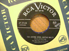 RCA VICTOR 45 RECORD/ PEE WEE KING/RAILROAD BOOGIE/CRYING STEEL GUITAR WALTZ/ EX