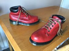 Vintage Dr Martens 7751 Red leather boots UK 4 EU 37 ENGLAND steel punk walking