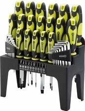 DRAPER 44 PIECE SCREWDRIVER, HEX KEY AND BIT SET IN STORAGE STAND GREEN 78619