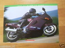 K076 KAWASAKI  BROCHURE PROSPEKT FOLDER ZZ-R1100 AND 600 1997 DUTCH 8 PAGES