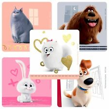 Secret Life of Pets Stickers x 5 - Birthday Party - Favours - Loot Ideas -Square