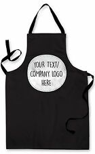 BLACK ANY TEXT ANY LOGO  DESIGN APRON KITCHEN BBQ COOKING GREAT GIFT IDEA