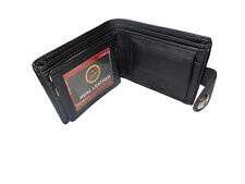 ALW High Quality Faux Leather Stylish Design Wallet with side closing - Black