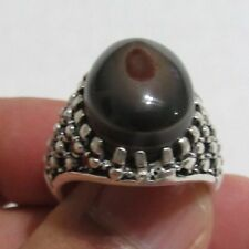 925 sterling silver  ring with genuine Yemeni sulaymani agate1عقيق يمني سليماني