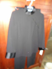 Evan-Picone Black Pants Suit Top Asian Styled Elastic Waist Pant NWT Size 8