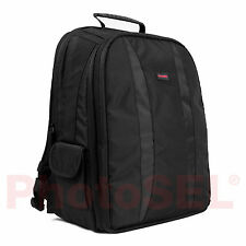 PhotoSEL BG401 DSLR Camera Backpack & Laptop Rucksack Bag Case Canon Nikon Sony