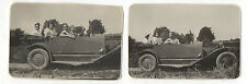 2 PHOTOS ANCIENNES Groupe Famille Voiture Auto Automobile Ford ? 1932