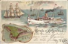 Schiff, Dampfer Prinzessin Heinrich auf der Fahrt nach Helgoland, Litho-Ak 1902