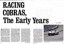 """1962-1965 FORD SHELBY """"RACING"""" COBRAS  ~  NICE3-PAGE ARTICLE/AD"""