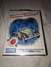 Where In The World Is Carmen Sandiego Sega Master System-BRAND NEW & SEALED! WOW